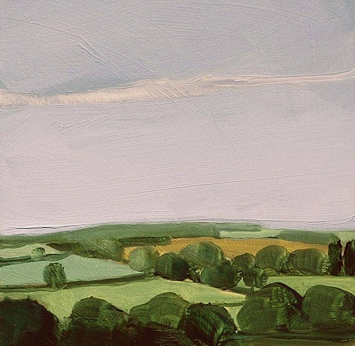 Sara MacCulloch, Trees and Fields, England  2009, Oil on panel