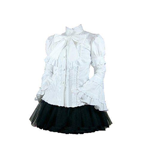 Partiss Damen Rueschen Festliche Bluse Langarm Puffaermel Gothic Lolita Hemd mit Lace Rueschenkragen Bowknot Partiss http://www.amazon.de/dp/B015PZXGUK/ref=cm_sw_r_pi_dp_uvgiwb1NPGSR9