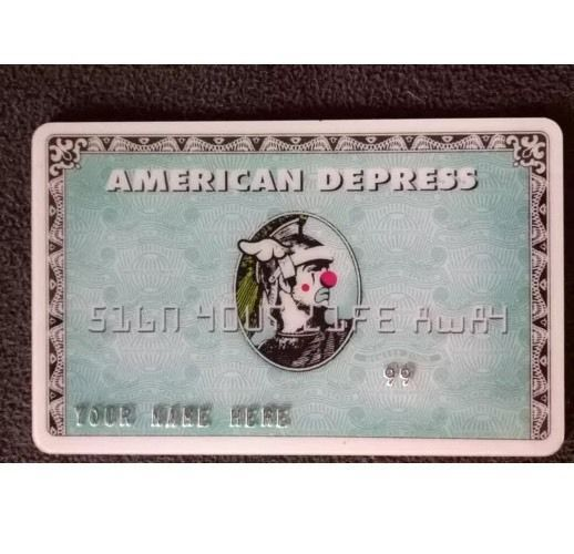 DFACE AMERICAN Depress Credit Card Express Kaws Supreme Deck in Art, Art from Dealers & Resellers, Prints | eBay