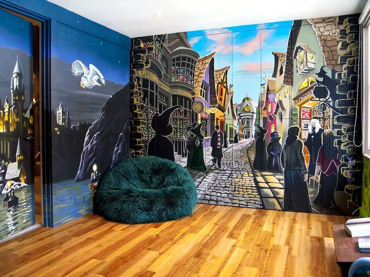 1000 ideas about harry potter bedroom on pinterest harry potter room harry potter and hogwarts. Black Bedroom Furniture Sets. Home Design Ideas