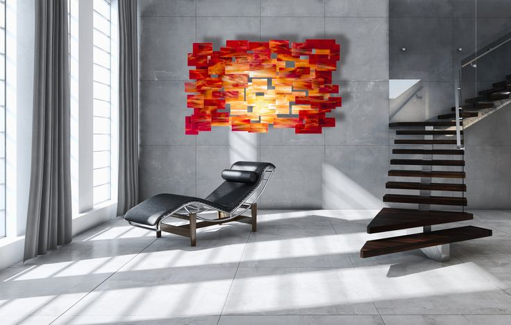 Sunset by Karo Martirosyan (Art Glass Wall Sculpture) | Artful Home