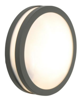 Komet Outdoor Round Wall Light in Grey, 5052931171415