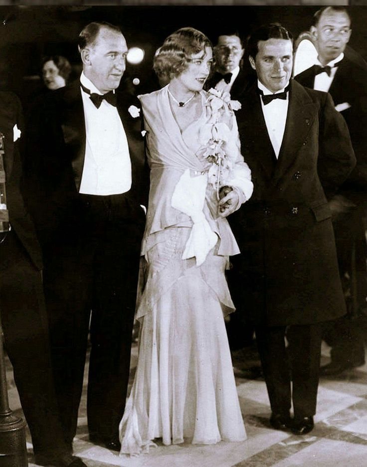 """Charlie Chaplin Is For The Ages: 1930 - Charlie Chaplin attends premiere of Marion Davies film Mari """"Florodora Girl"""". Still shooting """"City Lights"""", hence the dark hair."""