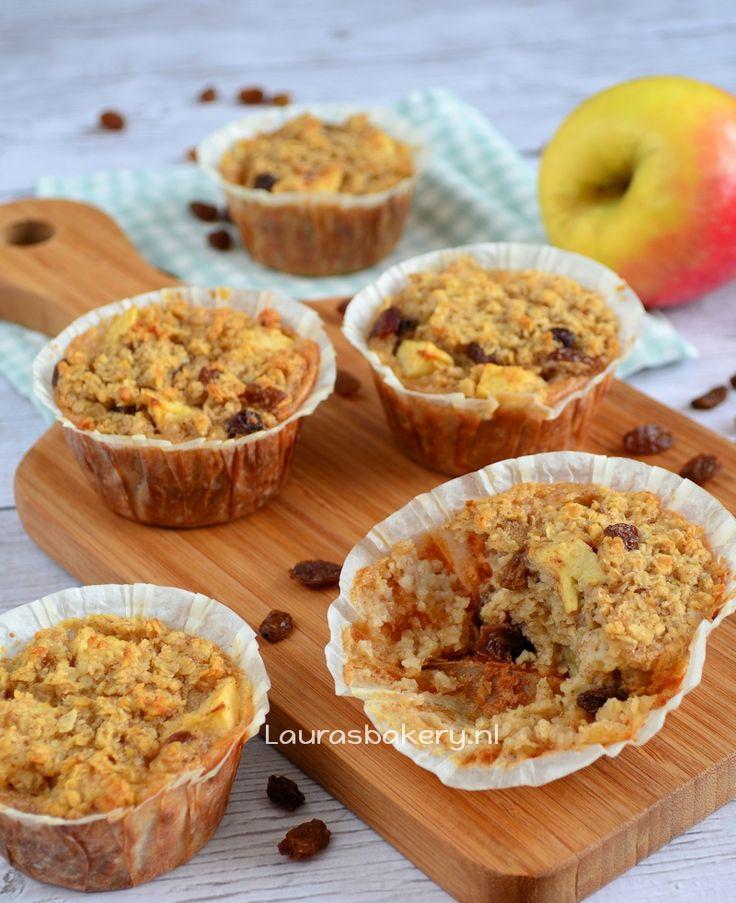 Appeltaart havermout muffins - Laura's Bakery