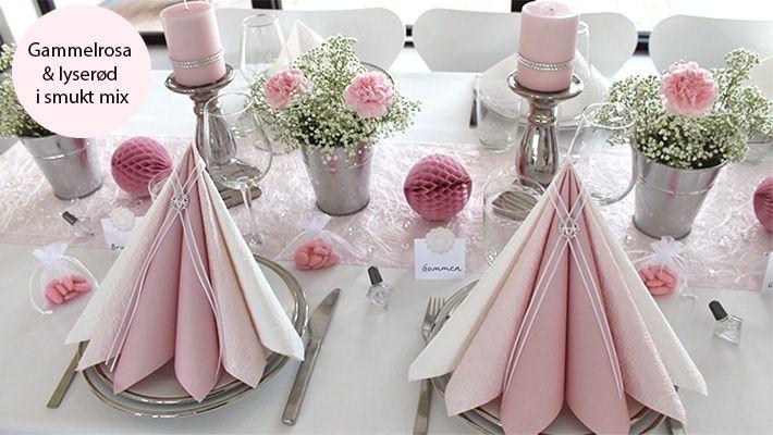 Inspiration til borddækning, ideer til borddækninger, flotte borddækninger