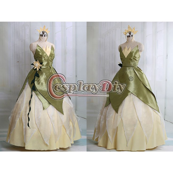 The Princess and the Frog Tiana Princess Dress Costume Adult Women Halloween Cosplay Costume