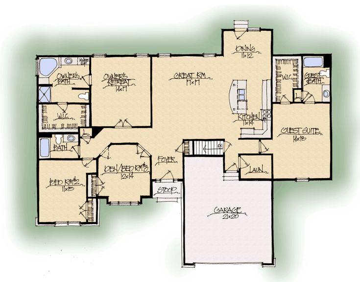 Oakley C Dual Master Suite Midwest Schumacher Homes