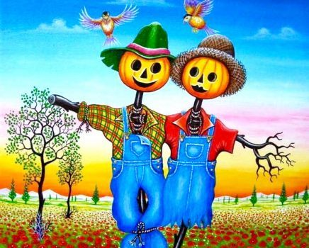Mr and Mrs Scarecrow (180 pieces)