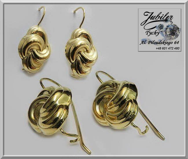 #Złote #Kolczyki #wiszące #złoto #Au585 #Jubiler #Tychy #Gold #Jeweller #Tyski #Złotnik #jubilertychy #złota #biżuteria #wyroby #Złote #Pracownia #Złotnicza w #Tychach #Promocje : ➡ jubilertychy.pl/promocje 💎