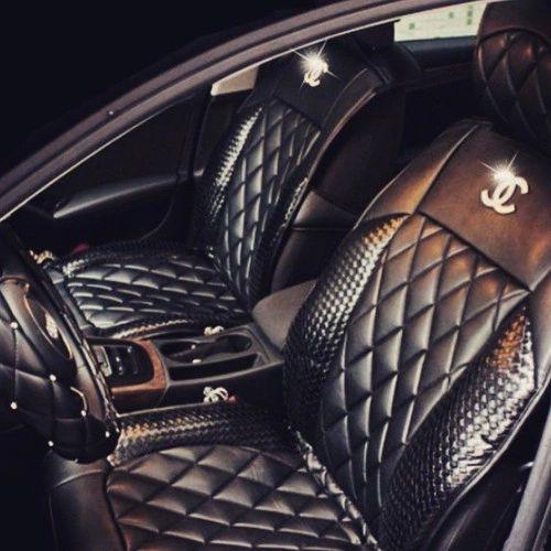 Purple Louis Vuitton Car Seat Leather