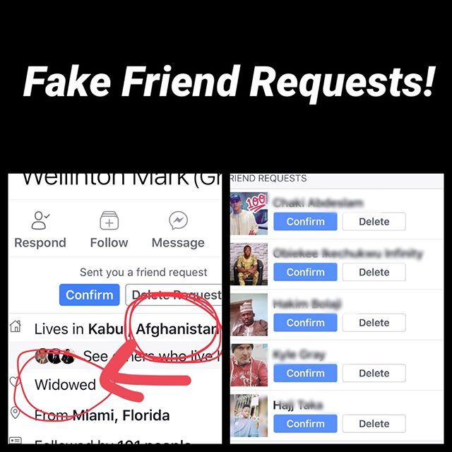 Is It Just Me Or Have You Also Received 50 Requests In The Last Week From Widowed Men Who Are In The Military Or Live Overseas Fake Friends Just Me Instagram