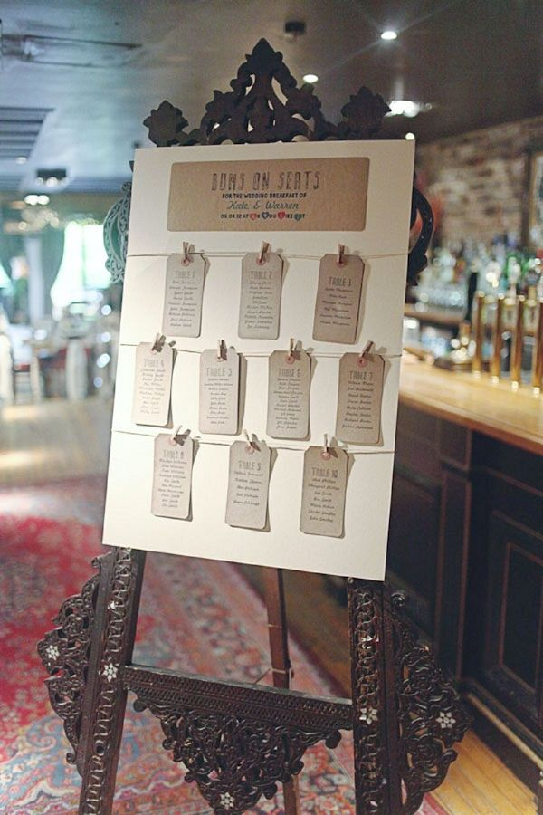 lugage label table plan, image by Sally T Photography http://www.sallytphotography.com/