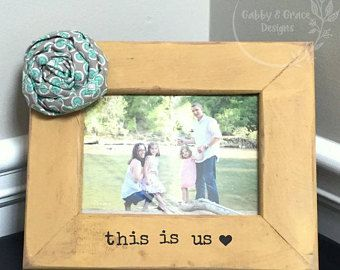 This Is Us Family Frame- Custom Family Picture Frame -Heart Frame- Engagement frame-wedding frame-this is us
