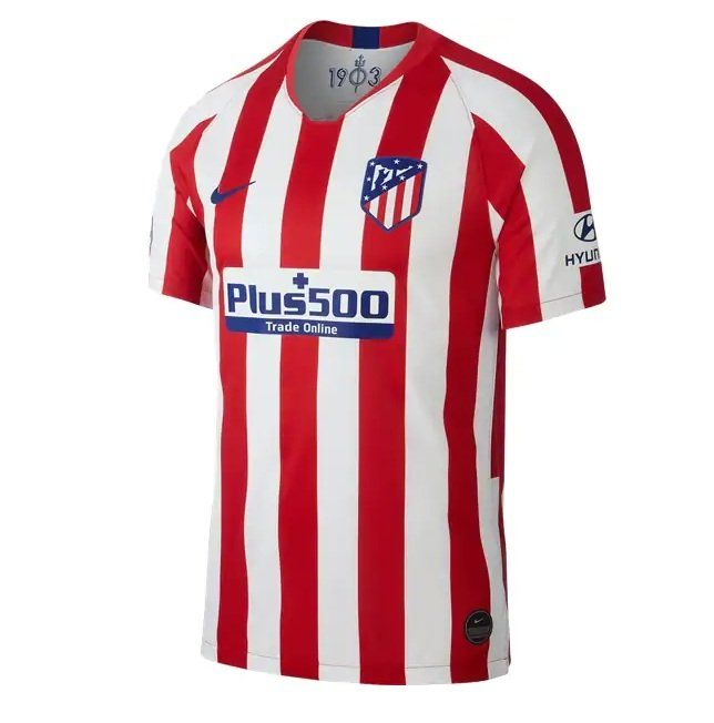 Atletico Madrid 2019 2020 Home Jersey By Nike Soccer Shirts Soccer Jersey Football Shirts