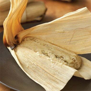 Chicken Tamales with Tomatillo-Cilantro Sauce Recipe at Epicurious.com