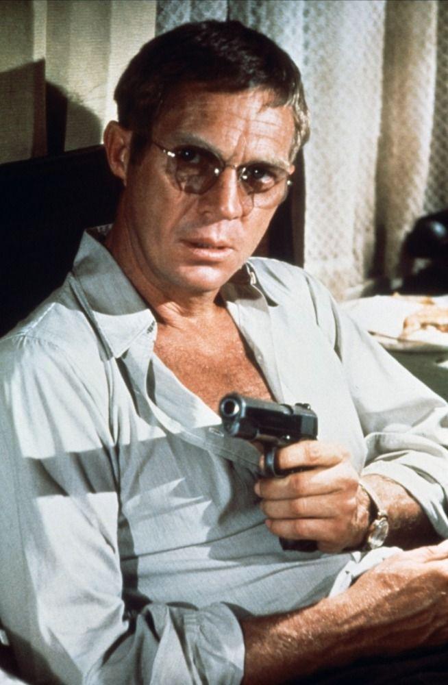 """Steve McQueen dans """"Guet-apens"""", un film de Sam Peckinpah (1972)"""