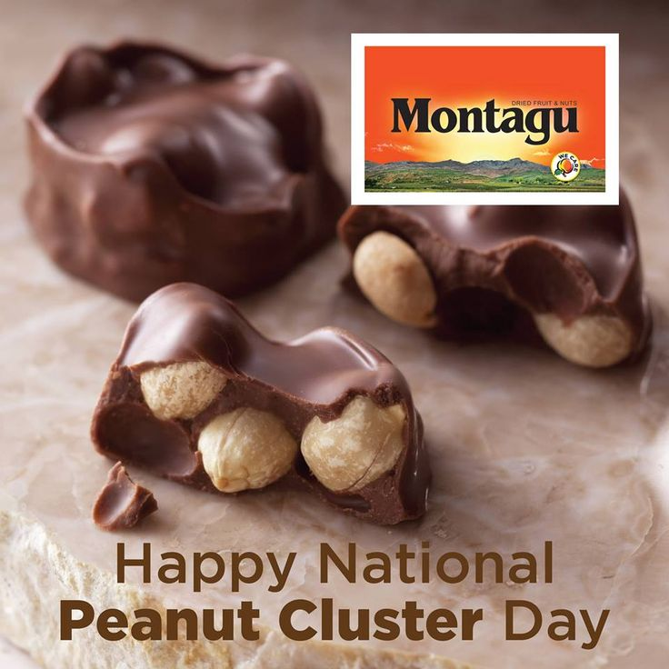 Who doesn't love a good old-fashioned peanut cluster? :)  Making your perfect mid-week treat is as easy as 1, 2, 3...  1. Melt dark chocolate and mix in shelled, unsalted Montagu peanuts until they're all covered. 2. Cover a baking tray in grease-proof paper and spoon the clusters evenly on the tray. 3. Pop into the fridge overnight and enjoy the next day!  #SoSimple   #NationalPeanutClusterDay   #yummy