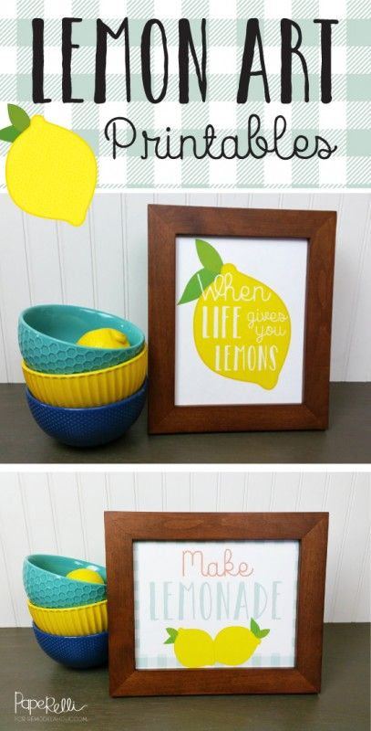 Give someone's day a little bit of sunshine with this cute yellow (free) lemon printable. Just frame and display or give as a gift!