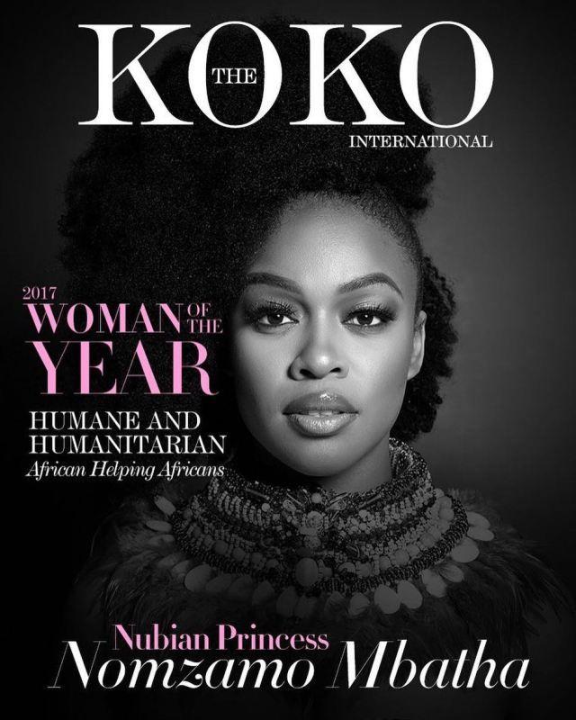 UK Magazine Names Nomzamo Mbatha Woman Of The Year