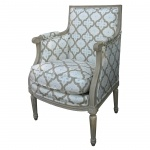 French Painted Mini Bergere From Parc Monceau...Linked from Traditional Homes Magazine as one of Kasler's Favorite Stores in Atlanta