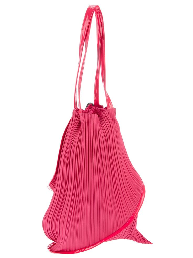 PLEATS PLEASE BY ISSEY MIYAKE  pleated twisted shoulder bag
