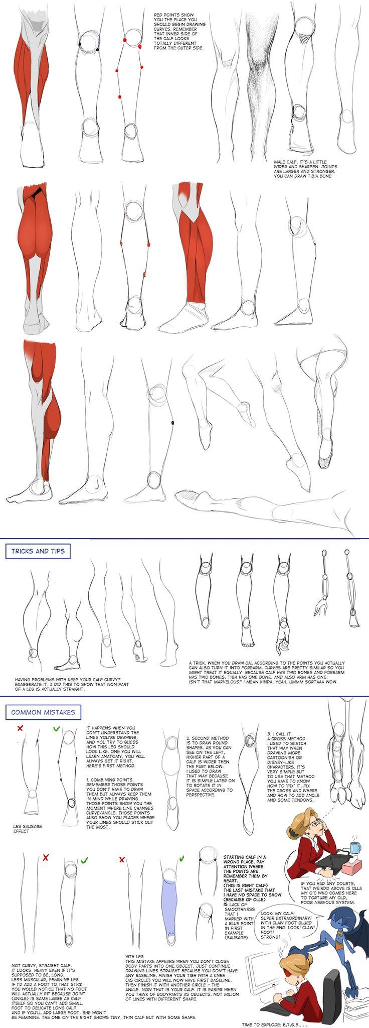 Calfs Tutorial by Precia-T.deviantart.com on @DeviantArt