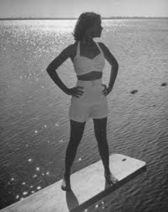Model Tee. 1940s. Janzten swimsuit.
