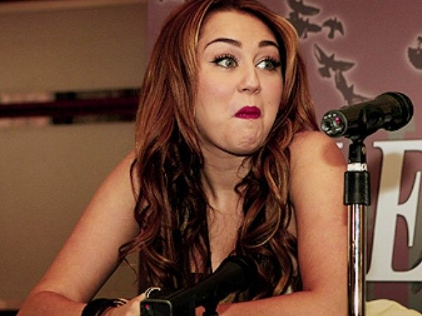 Miley cyrus wacky face