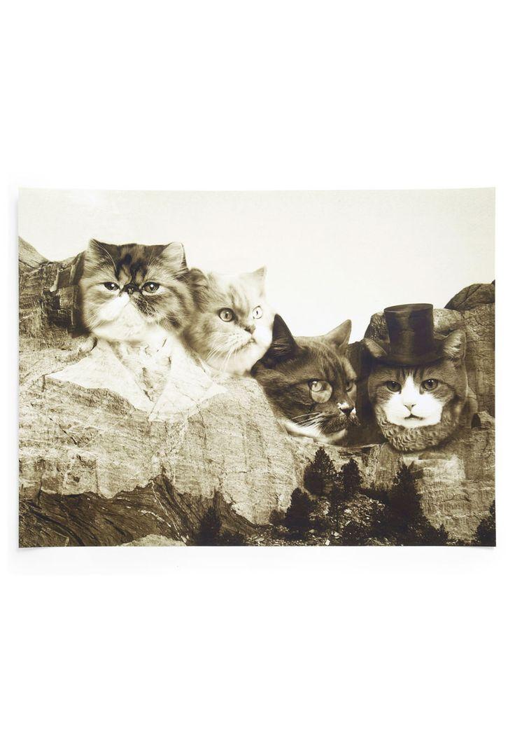 Meow-nt Rushmore Print