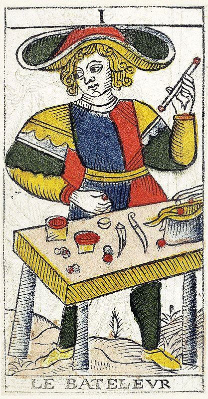 Tarot de Marseille Heritage - Pierre Madenié, Dijon 1709 - Le Bateleur