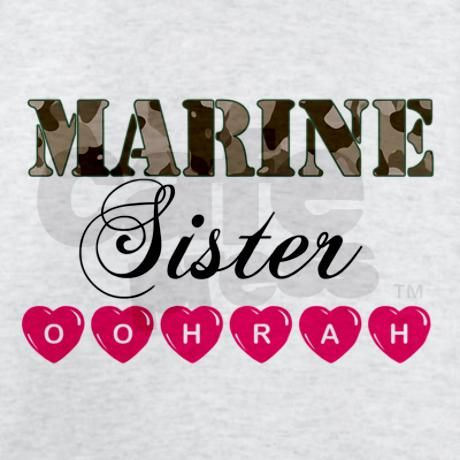 Marine Sister OOHRAH T-Shirt by marineswife