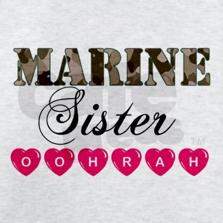 Marine Sister OOHRAH T-Shirt by marineswife
