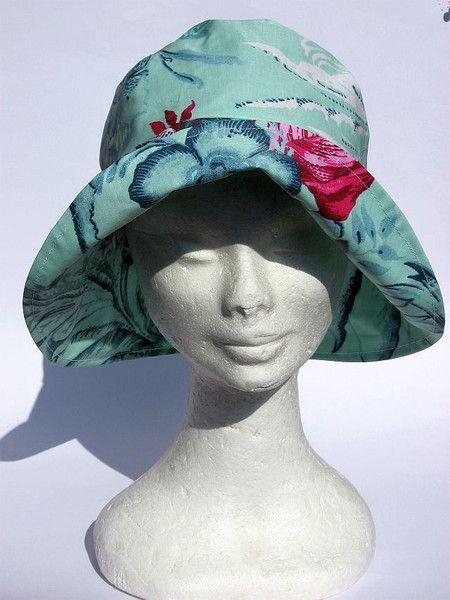Hüte - Regenhut tuerkisblau - ein Designerstück von Janecolori bei DaWanda