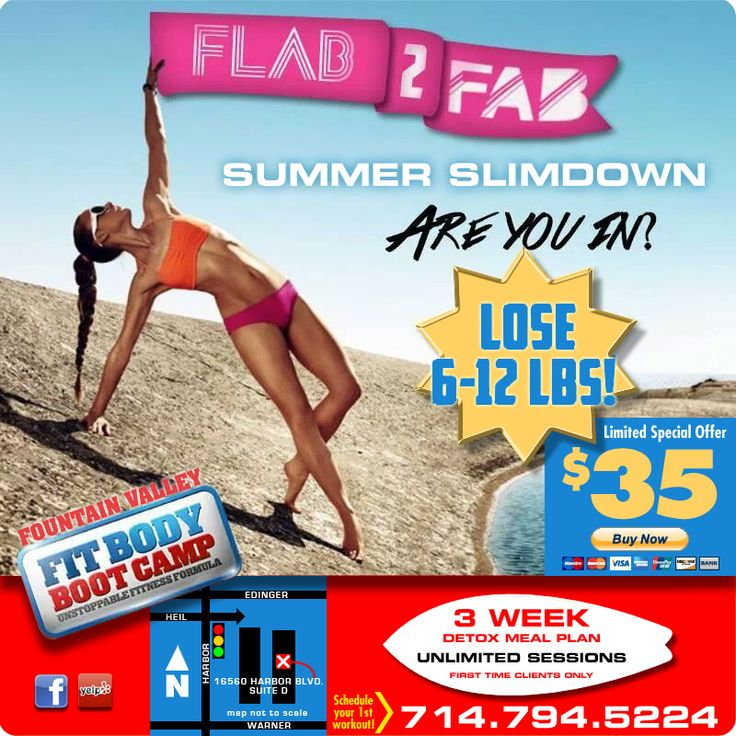 I was asked to design a one-page special promo website [fountainvalleyfitness.com], custom map, and print ad for Fit Body Boot Camp in Fountain Valley.