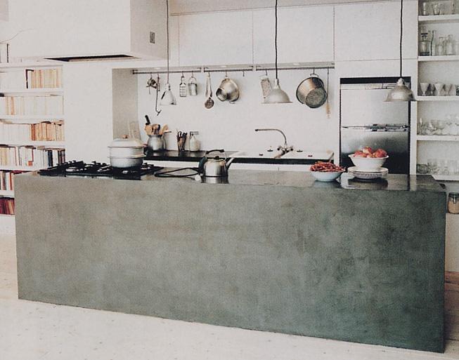 Architect, Valerie Mazerat, kitchen island made from salvaged ...