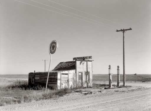 1937-Texaco Station, North Dakota by ozfan22, via Flickr