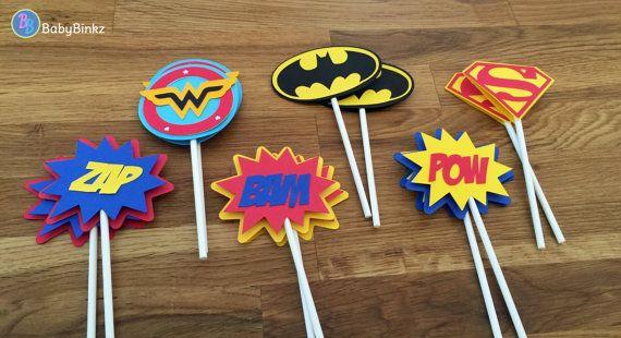 Troquel corte Justicia Liga Super héroe Cupcake Toppers
