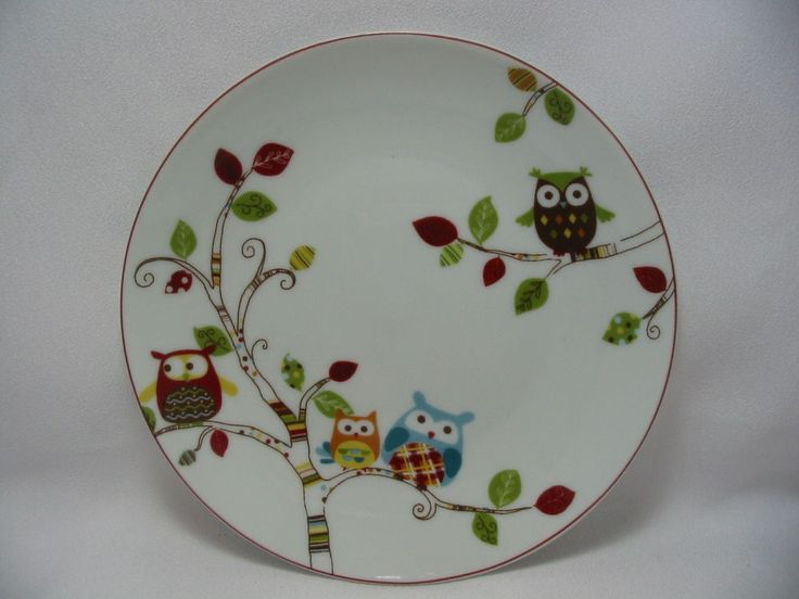 222 Fifth Dessert Appetizer Plates Set 4 Enchanted Woods