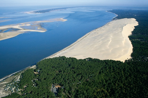 Dune du Pilat, Arcachon, France....a natural sand dune with sea on one side and conifers on the other...
