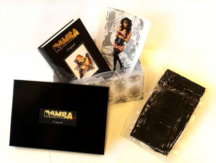 RAMBA BOX !! inside: Book and RAMBA spandex tights!! Libro e collant!!
