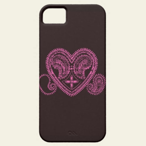 Paisley Heart Iphone 5 Cases