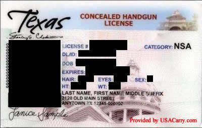 Texas Concealed Carry Permit Information