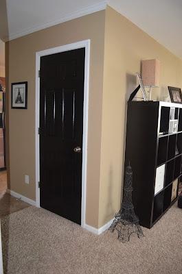 10 best interior door ideas images on pinterest black door black doors and black front doors for Best black paint for interior doors