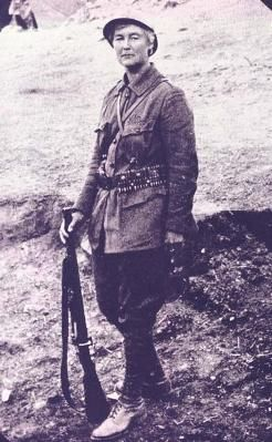 Flora Sandes-the only British woman to serve in combat in WWI. was the only British woman to officially serve as an infantryman in the war, the first British  woman to ever be commissioned as an officer in the Serbian army, and performed so many intense acts of badassitude that she's now considered a war hero in both her homeland and her adopted country of Serbia.