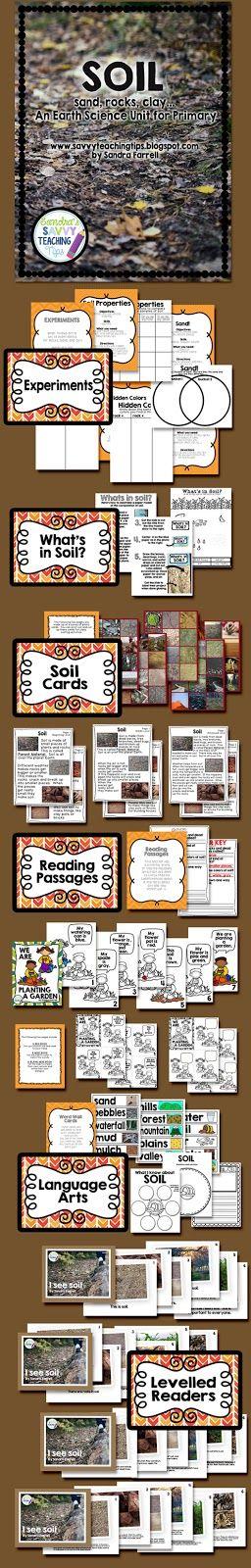 sandra's savvy teaching tips: SOIL - a Primary Science Unit