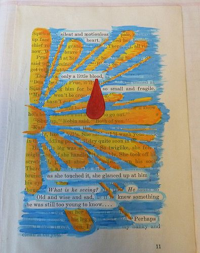 Art Journaling, scan, and pick only the words or phrases that stand out to you