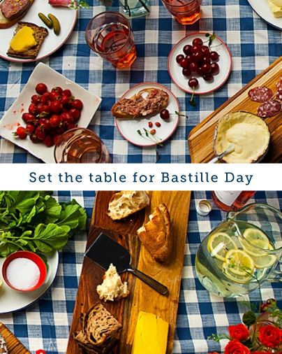 bastille day table decorations