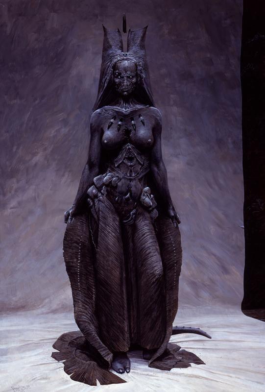 Ereshkigal, Queen of the Dead or Underworld in Mesopotamian lore.