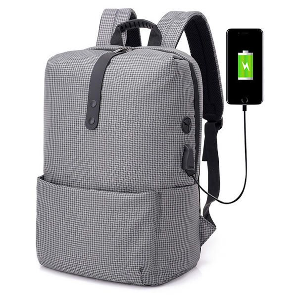 Lightweight USB Anti Thief Back Pack For Travel Laptop Waterproof 15.6inch Black