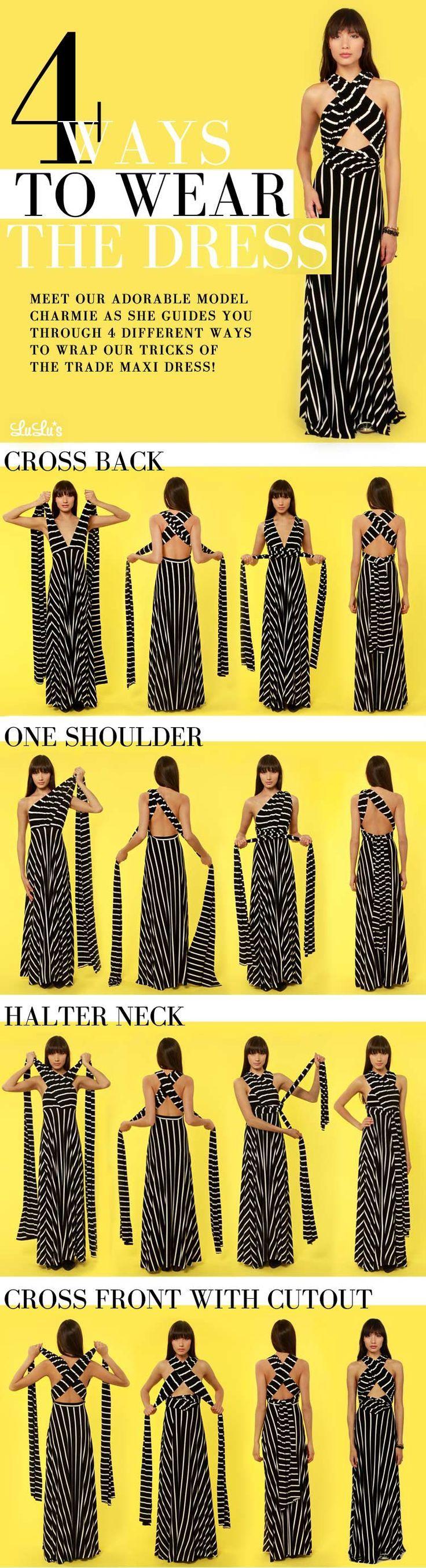 Convertible Wrap Dress | The Cutest Convertible Wrap Dress Tutorial! - http://Lulus.com Fashion Blog #flatlay #flatlays #flatlayapp www.theflatlay.com